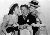 with Olivia De Havilland and James Cagney