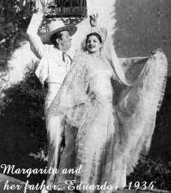 Margarita and her father, Eduardo Cansino