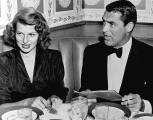 Rita and her friend Cary Grant dining in 1947