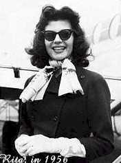 a candid shot of Rita in 1956- © Hulton-Deutsch Collection/CORBIS