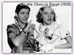publicity shot for Charlie Chan in Egypt with Pat Paterson