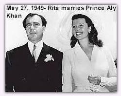 Rita and Prince Aly Khan