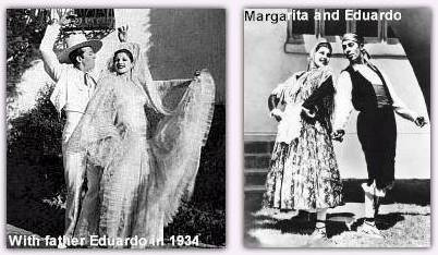 Margarita and her father, Eduardo Cansino