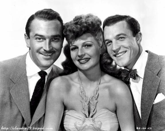 Lee Bowman, Rita Hayworth and Gene Kelly